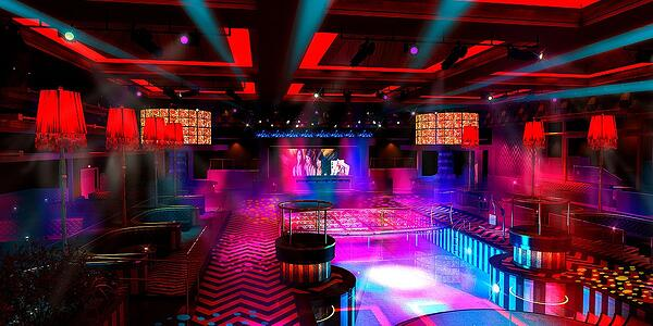LEX Nightclub interior with dance floor
